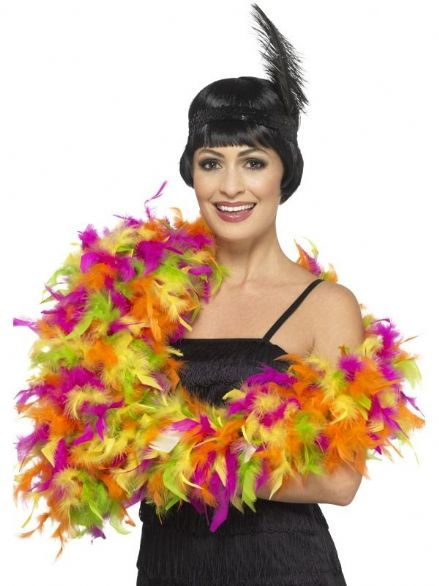 Deluxe Mixed Neon Feather Boa